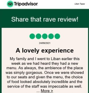 Liban TripAdvisor Review